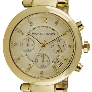 Michael Kors MK5276 Parker Chrono Gold Tone Watch